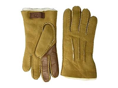 UGG Contrast Water Resistant Sheepskin Tech Gloves (Chestnut) Extreme Cold Weather Gloves