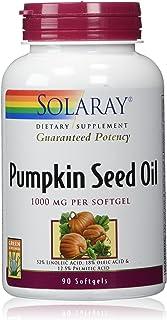 Solaray Pumpkin Seed Oil, 1000 mg   90 Count
