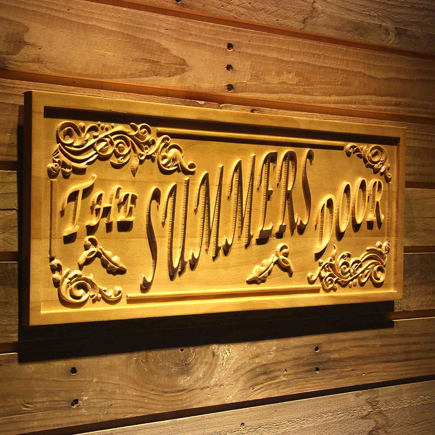 Wpa0355 Name Personalized The Door Decoration Name Gifts Wood Engraved Wooden Sign - Standard 23  x 9.25