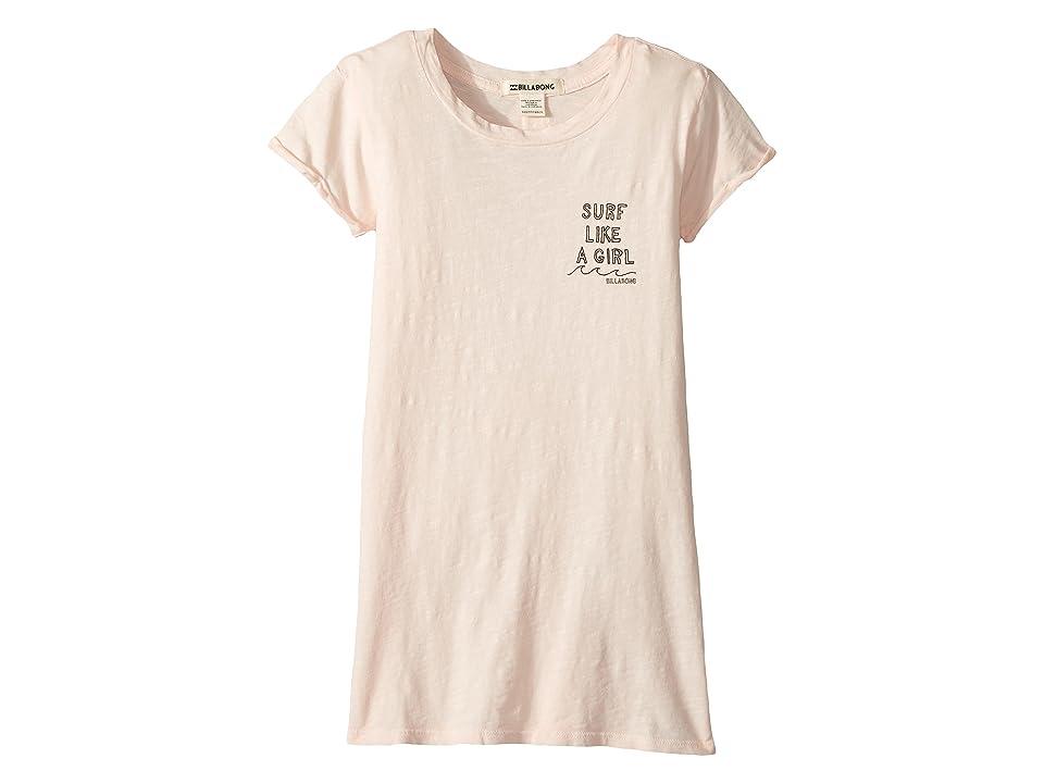 Billabong Kids Last Quarter T-shirt Dress (Little Kids/Big Kids) (Peony) Girl