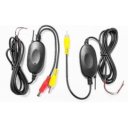Xomax Xm Kl001 Kabellos Adapter Für Rückfahrkamera Einparkhilfe Funk Transmitter Set Kabellose Videoübertragung Einfacher Anschluss über Cinch Anschlüsse 12v Anschluss Empfänger Sender Im Set Elektronik