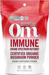 Om Organic Mushroom Superfood Powder, Immune, 3.5 Ounce (50 Servings), Reishi & Turkey Tail, Immune Support Supplement, 3....