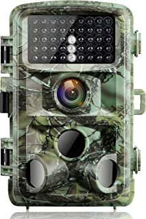 Campark Trail Game Camera 14MP 1080P Night Vision Waterproof Hunting Scouting Cam for Wildlife Monitoring with 120°Detecting Range Motion Activated 2.4