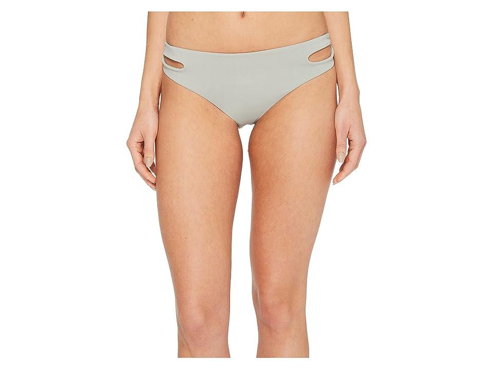 Roxy Softly Love Solid Reversible 70s Bikini Bottom (Wrought Iron) Women
