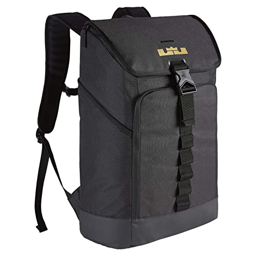 d29eabe2bf67 Men s Nike LeBron Max Air Ambassador Backpack Black Metallic Gold Size One  Size