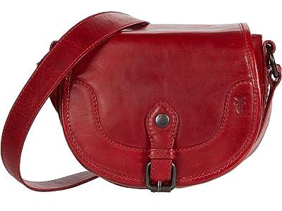Frye Melissa Button Saddle (Red) Handbags