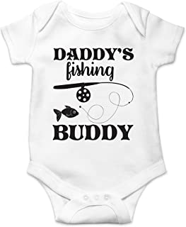 Daddy's Fishing Buddy Cute Funny Toddler Fish Routine Humor Infant Baby Jumpsuit
