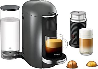 Breville-Nespresso USA BNV450TTN1BUC1 VertuoPlus Coffee and Espresso Machine, Bundle - Titan
