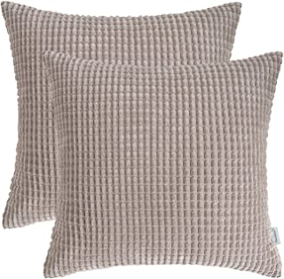 Patmos Stripe in Taupe-High End Designer Decorative Pillow Cover-Accent Pillow-Single Sided