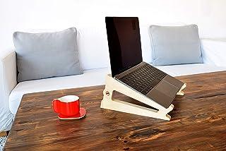 laptop stand/supporto computer/computer stand legno/accessori laptop - PUKA BETULLA