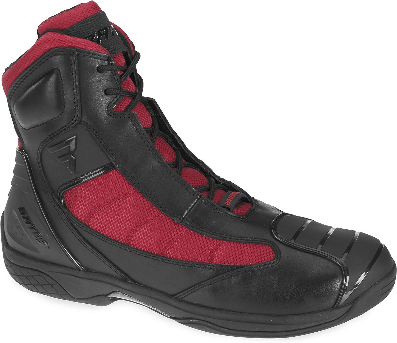 Bates Beltline Performance Men's Motorcycle Boots (Black Red, Size 7)