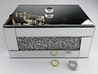 BANQLE Crystal Jewelry Box Jewelry Organizer, Handmake High-end Luxury Jewelry Storage, Home Accessory Perfect Container f...