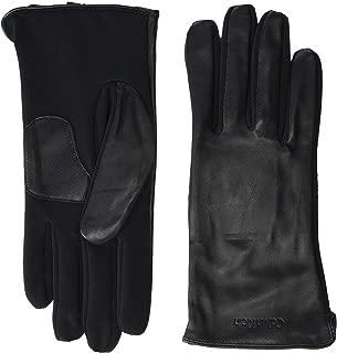Embossed Half Leather Glove Black LG