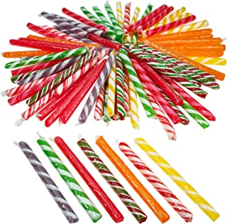 Kicko 4.75 Inch Old Fashioned Candy Stick - 72 Piece of Fruit-Flavored Suckers for Party Favors, Cake Decorations, Novelty Supplies or Treats for Halloween, Christmas, Baby Showers, Weddings