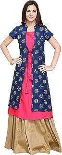 Oomph! A-line Silk Kurti Palazzo Set for Women - Pink_mk109set