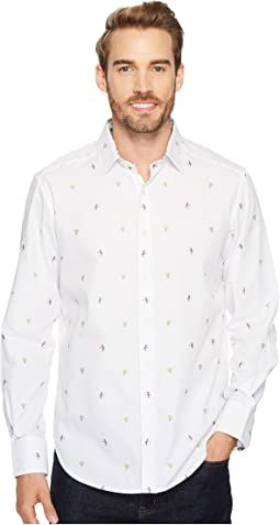 Palm Leaves Long Sleeve Woven Shirt
