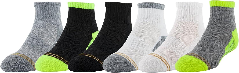Gold Toe Boys Ultra Tec Athletic Quarter Socks, 6-Pairs