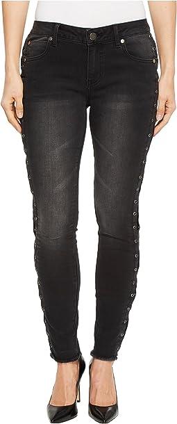 Grommet Side Detail Denim Pants