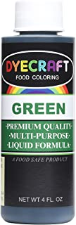 DyeCraft Green Food Coloring (LARGE 4 oz Bottle) Odorless, Tasteless, Edible - Perfect for Baking, Cooking, Arts & Crafts,...