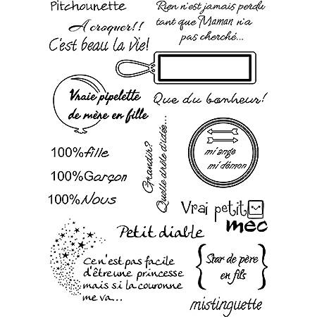 DJSHXC Cadeau de Chat Transparent Tampons Silicone pour Bricolage Scrapbooking//Fabrication De Cartes//Enfants Amusant D/écoration Fournitures A1345
