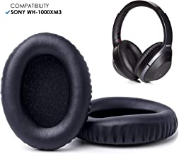 Wicked Cushions Upgraded Replacement Ear Pads for Sony WH1000XM3 - Extra Thick Ear Cushions, Made with Memory Foam | Black