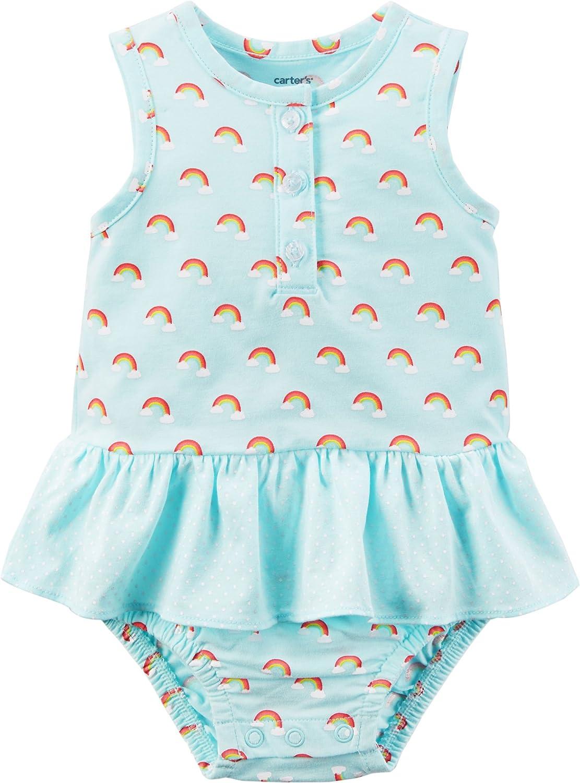 Carter's Infant Girls San Francisco Max 73% OFF Mall Rainbow Polka B Blue Dots Bodysuit Ruffled