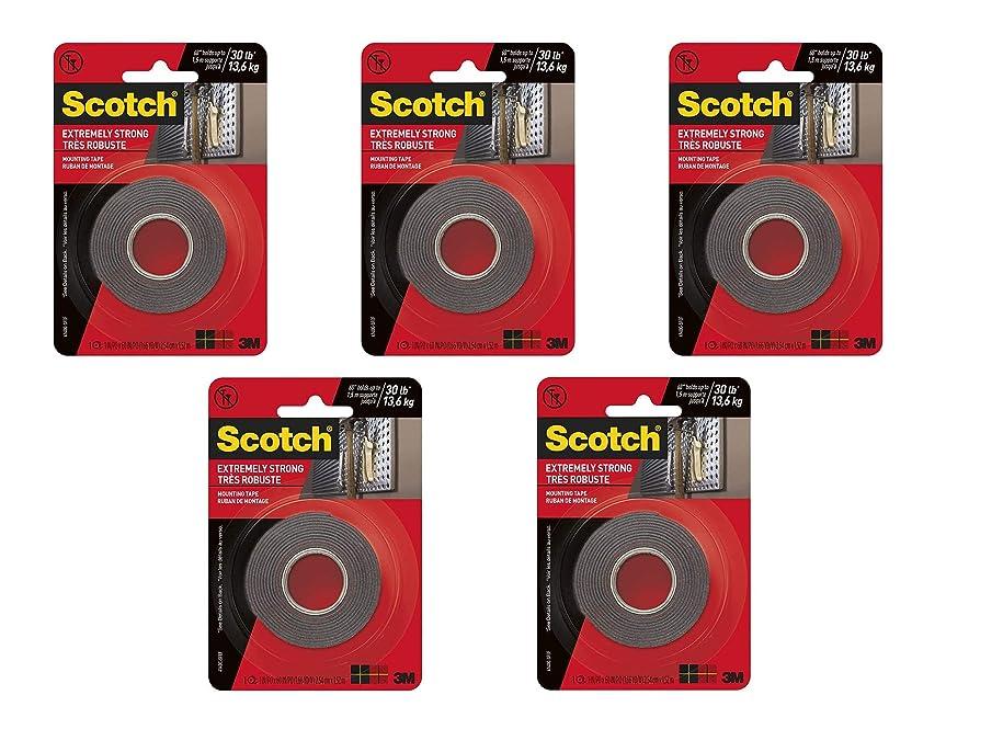 イブ葬儀信頼できる3M スコッチ エクストリーム マウントテープ 1 x 60インチ ブラック 5パック