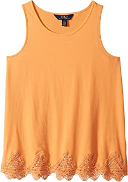 Lace-Trim Jersey Tank Top (Little Kids/Big Kids)
