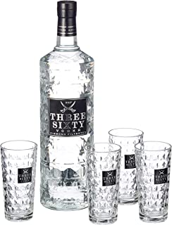 Three Sixty Vodka Longdrinkgläsern 37.5% vol 1 x 3 l