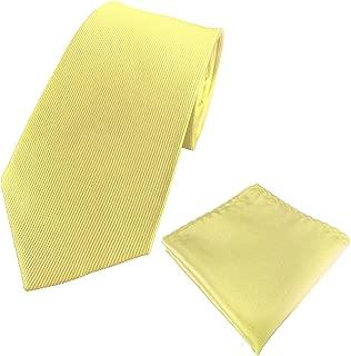 Mens 100% Silk Solid Plain Tie Wedding Business Formal Necktie & Pocket Square Set 6-8CM Various Colors