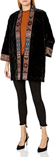 JWLA By Johnny Was Women's Velvet Quilted Embroidered Coat