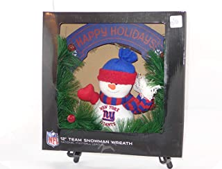 SC Sports NFL 12 New York Giants Snowman Wreath