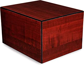 Chateau Urns - Society Collection - Large - Adult Cremation Urn - Pet Cremation Urn - Memorial Box for Ashes - Cherry Finish