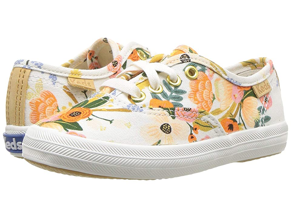 Keds x Rifle Paper Co. Kids Rifle Paper Champion Seasonal (Toddler) (Lively White) Girls Shoes