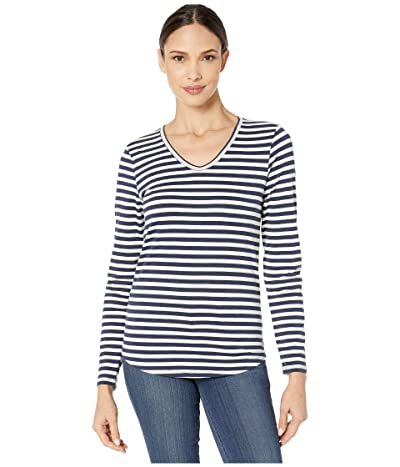 Toad&Co Marley Long Sleeve Tee (Egret Stripe) Women