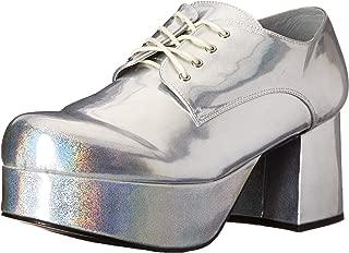 Pimp Adult Costume Shoes Silver - Large