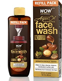 WOW Skin Science Moroccan Argan Oil Foaming Face Wash Refill Pack - with Moroccan Argan Oil - For Extended Use - No Parabe...