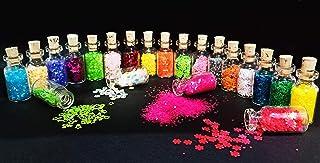 Western World Sequin Nail Glitter Heart,Star,Multicolored Wishing Cork bottle Body,nail,Art Decoration(Pack of 20Pcs)