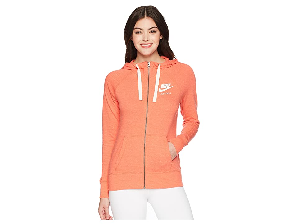 Nike Gym Vintage Full Zip Hoodie (Rush Coral/Sail) Women