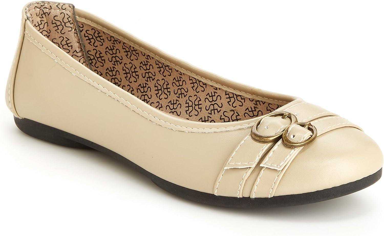 Harborsides Glory Women Flat Leather shoes- Memory Foam, Vegan Uppers, Slip On
