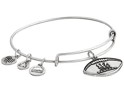 Alex and Ani NFL Cincinnati Bengals Football Bangle (Rafaelian Silver) Charms Bracelet