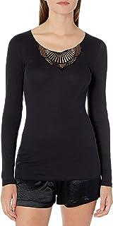 Hanro Women's Adina Long Sleeve Shirt Camisole