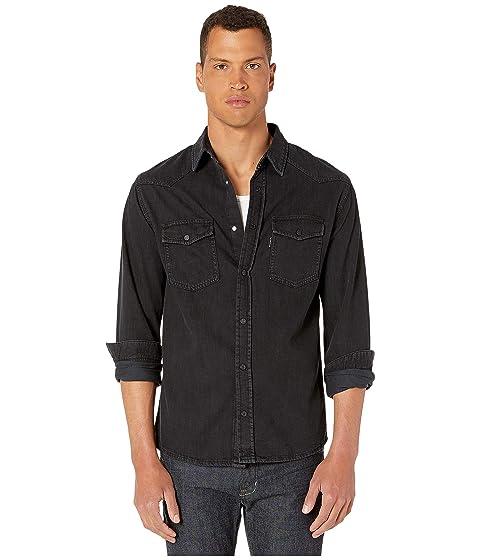 The Kooples Washed Out Black Denim Shirt