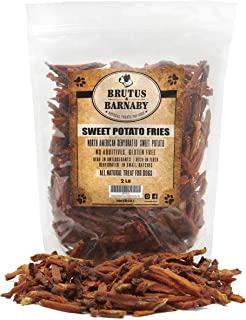 Brutus & Barnaby Sweet Potato Dog Treats- No Additive Dehydrated Sweet Potato Fries, Grain Free, Gluten Free and No Preservatives Added