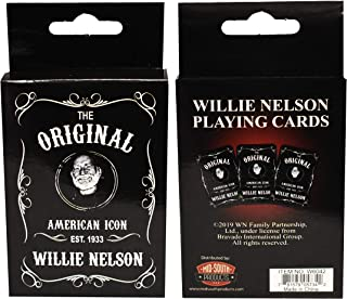 Midsouth Products Willie Nelson Playing Cards - Willie Nelson Black and White Est.