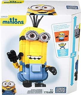 Mega Bloks CNF59 Monster Build A Minion Toy, Tri-Indigo,Yellow, 0