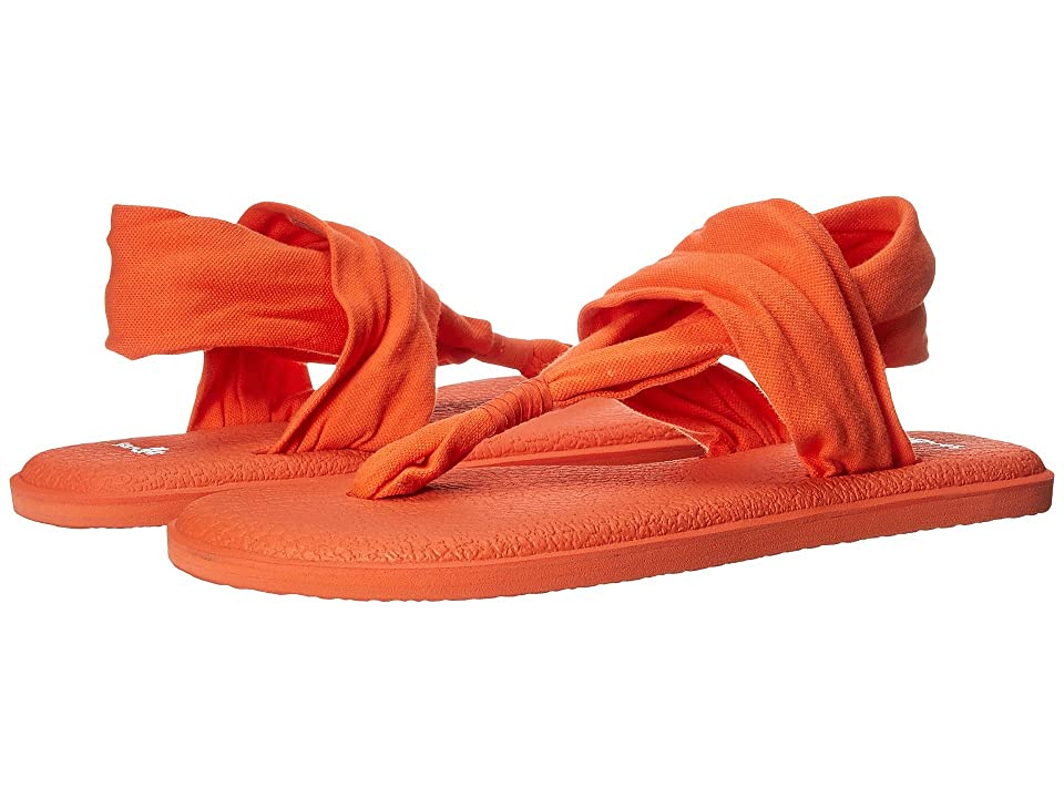 Sanuk Yoga Sling 2 Spectrum (Nasturtium) Women's Sandals, Orange