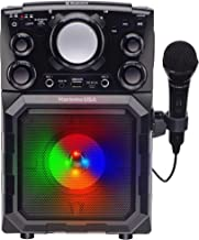 Karaoke USA Portable MP3 Karaoke Player with Bluetooth, PA, and Built-In Battery (GQ410)