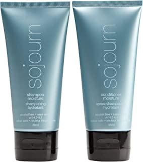 Sojourn Moisture Shampoo and Conditioner Due Set With Optimal Hydration For Normal, Dry, Curly Or Thick Hair, Travel Size (3 oz) Color Safe, Professional Salon Recommended