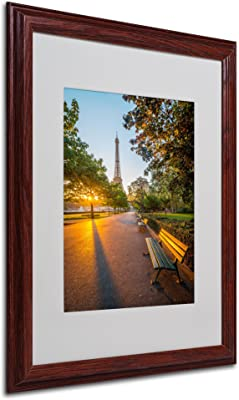Crazy Morning Light Paris Artwork by Mathieu Rivrin, 16 by 20-Inch, Wood Frame